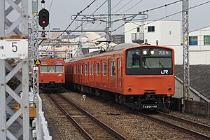 Osaka Loop Line - Image: JRW 201 and 103 001JPN