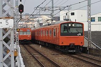 Osaka Loop Line - Image: JRW 201 and 103 001JPN