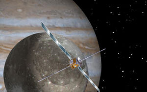 Jupiter Icy Moons Explorer - Concept art for the Jupiter Ganymede Orbiter, the ESA component of the proposed Europa Jupiter System Mission – Laplace.