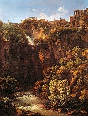 Johann Christian Reinhart -  Wasserfälle bei Tivoli (1813)