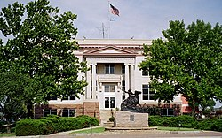 Jackson County Courthouse in Altus, Oklahoma