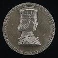 Jacopo Lixignolo, Borso d'Este, 1413-1471, Marquess of Ferrara 1450, Duke of Modena and Reggio 1452 (obverse), 1460, NGA 44378.jpg