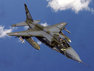 SEPECAT Jaguar - A French Air Force Jaguar completes air-to-air refueling over the Adriatic Sea