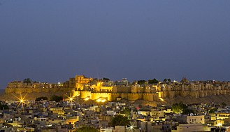 Jaisalmer - The Jaisalmer fort in Rajasthan.