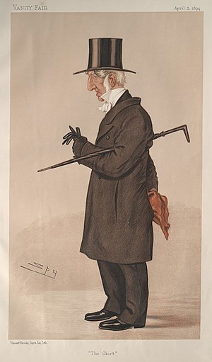 "James Edwards Sewell - ""The Shirt"". Caricature by Spy published in Vanity Fair in 1894."