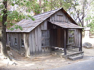 James W. Marshall - Marshall's cabin in Coloma,  California.