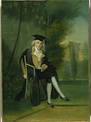 James Smithson - A young James Smithson, dressed in Oxford regalia, by James Roberts, ca. 1786