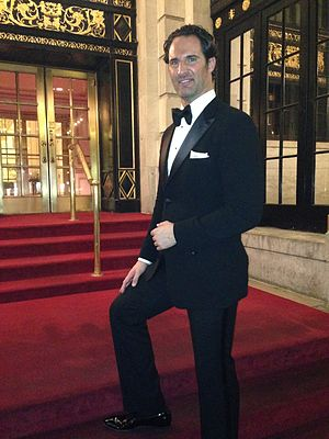 James Valenti - Valenti in front of the Plaza Hotel in New York City on April 13, 2014