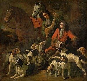 Jan Baptist Boel the Younger - Return from the hunt, with Theodoor Boeyermans