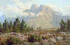 Jan Ernst Abraham Volschenk - Mountain Cypresses, Heather (1918)