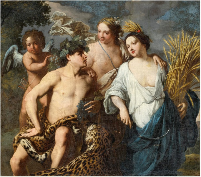 File:Jan Miel - Without Ceres or Bacchus, Venus would freeze ('Sine Cerere et Baccho Friget Venus').PNG