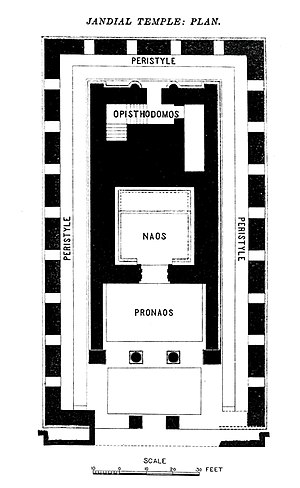 Jandial - The Temple in Jandial has the general layout of a Greek Temple.