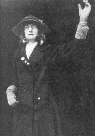 Lady Constance Bulwer-Lytton - Lytton posing as Jane Warton, a London seamstress, at a protest in Liverpool (1910)
