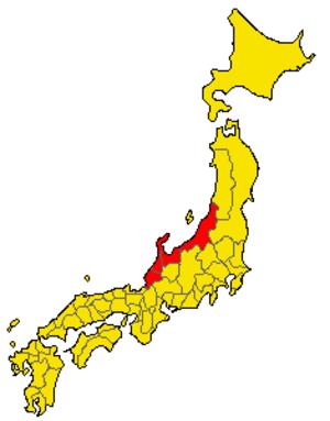 Koshi Province - Koshi Province in map of Japan