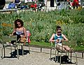 Jardin du Luxembourg, studying for finals, 19 May 2014.jpg
