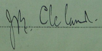 John Burton Cleland - Image: Jbcleland sig