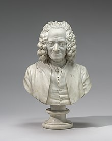 Jean-Antoine Houdon, Voltaire, 1778, National Gallery of Art (Source: Wikimedia)
