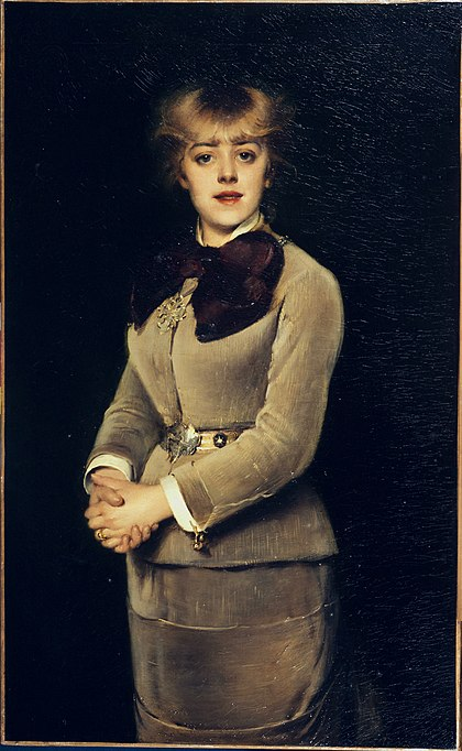 Portrait of Jeanne Samary, Louise Abbéma, 1880