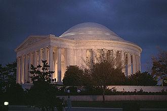 Culture of Washington, D.C. - Jefferson Memorial at dusk