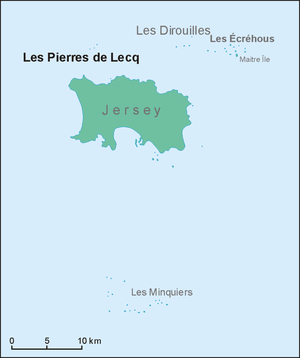 Pierres de Lecq - Location map of Les Pierres de Lecq