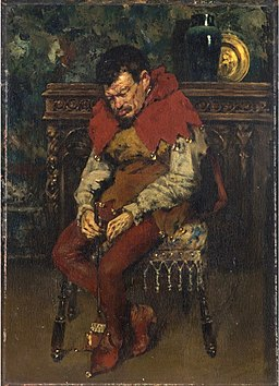 Jester Resting on a Chair by William Merritt Chase