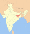 Jharkhand district location map Bokaro.svg