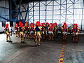 Jhonghe Elementary School Batucada Band Playing in Chiayi AFB Hangar 20120811.jpg