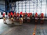 Jhonghe Elementary School Batucada Band Playing in Chiayi AFB Hangar 20120811.jpg