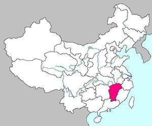 Maps of Jiangxi Province of China