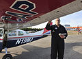 Jim Gibertoni, Alaska Wing CAP, checks the wing.jpg