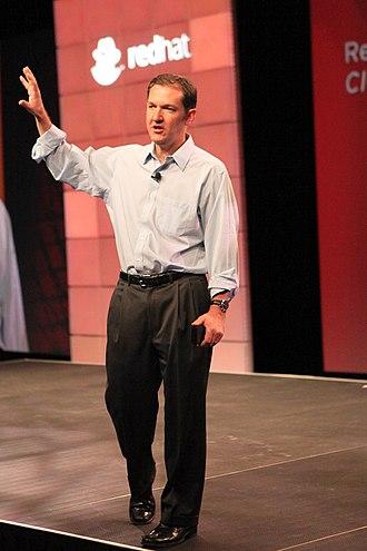 Jim Whitehurst - Image: Jim Whitehurst (Red Hat Summit 2010 keynote)