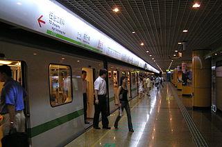 Jingan Temple station Shanghai Metro interchange station