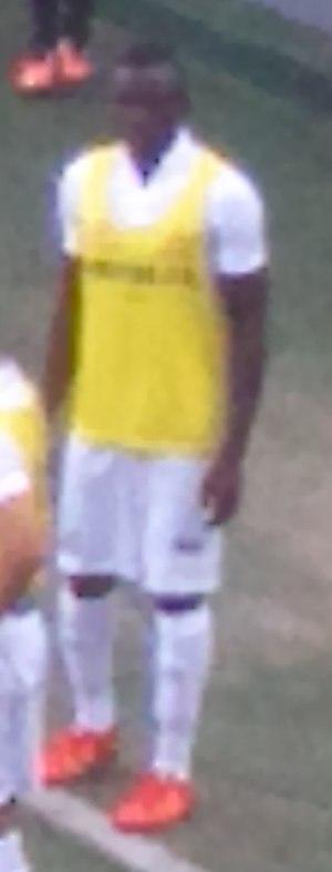 Diederrick Joel - Joel warming up for Santos in 2016