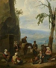 Paysage italien avec paysans au repos