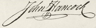 Autograph - John Hancock's signature on the United States Declaration of Independence