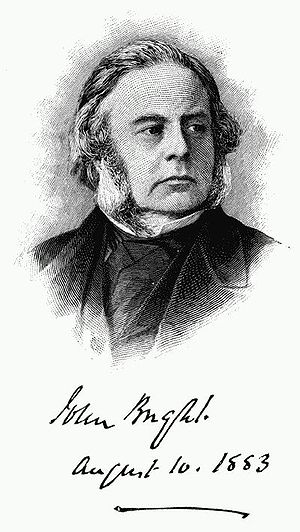 John Bright - Engraving for reproductions