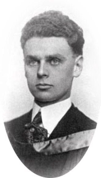 John Diefenbaker - Diefenbaker as a law student, c. 1919