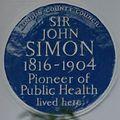 John Simon 40 Kensington Square blue plaque.jpg