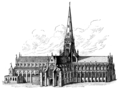 John Wycliff, last of the schoolmen and first of the English reformers - OLD ST. PAUL'S EXTERIOR.png