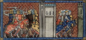 First Barons' War - Image: John of England vs Louis VIII of France