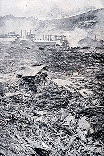 Johnstown Flood Massive flood of Johnstown, Pennsylvania caused by the collapse of the South Fork Dam