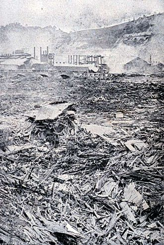 Johnstown Flood - Image: Johnstown flood debris
