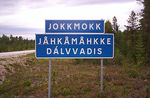 English: Table of Jokkmokk, Sweden. Magyar: A ...