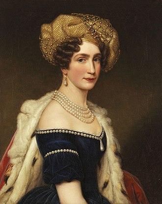Princess Augusta of Bavaria - Portrait by Joseph Karl Stieler
