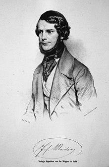 Joseph Menter. Lithographie von Franz Eybl, 1845 (Quelle: Wikimedia)