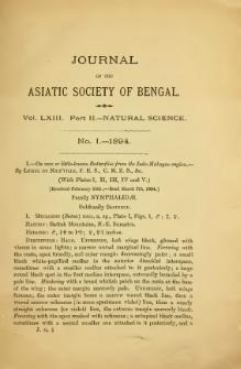 Journal of the Asiatic Society of Bengal Vol 63, Part 2.djvu
