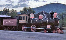 Photograph of Union Pacific 737 on display at Steamtown, U.S.A., Bellows Falls, Vermont