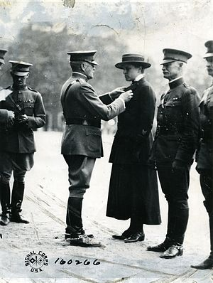 Julia Catherine Stimson - Stimson being awarded the DSM by General Pershing