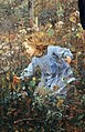 Julien bastien-lepage, papà jacques, 1881, 02 bambina che raccoglie i fiori.jpg
