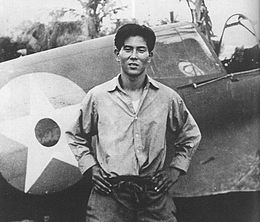 Junichi Sasai with P-40.jpg